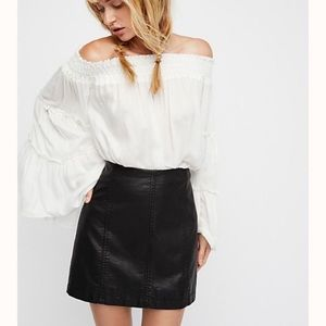 Free People faux leather mini skirt size 4